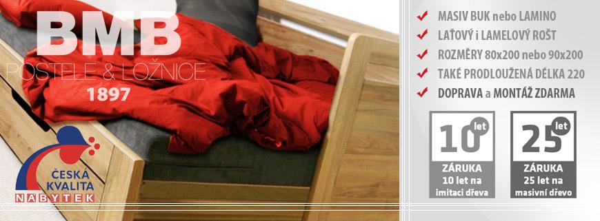 Rozkládací postele Tandem Klasik, Tandem Plus a Tandem ORTHO od BMB