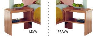 Varianty nočního stolku Stela