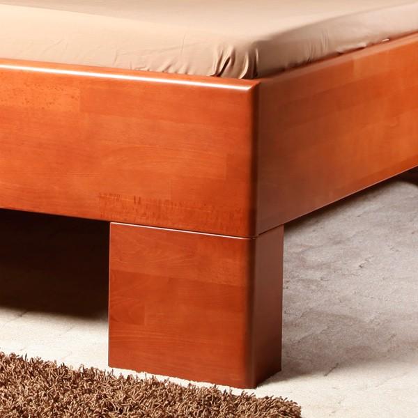Postel VAREZZA 2 - zvýšená postel, buk masiv LAK č. 20 třešeň