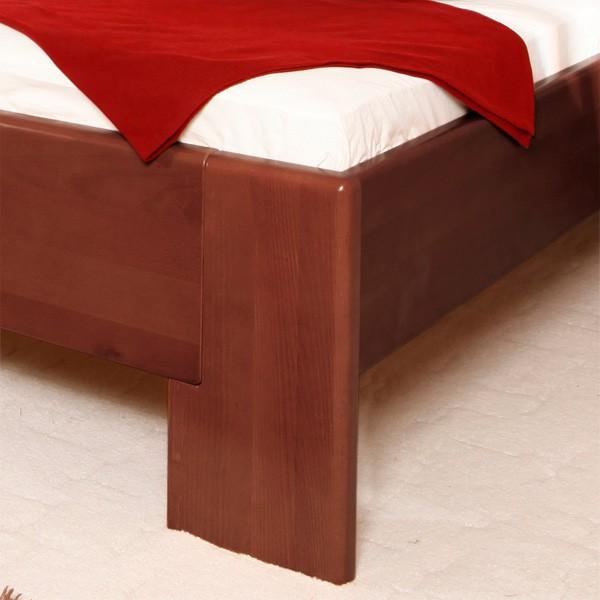 Zvýšená postel Deluxe 4 -  masiv buk průběžná lamela LAK č.30 - tabák
