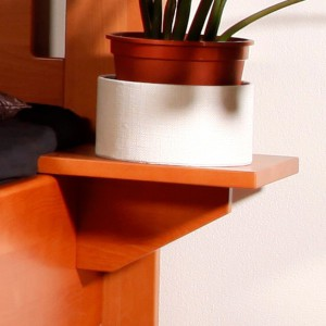 Noční stolek závěsný, masiv buk lak odstín č.20 přírodní