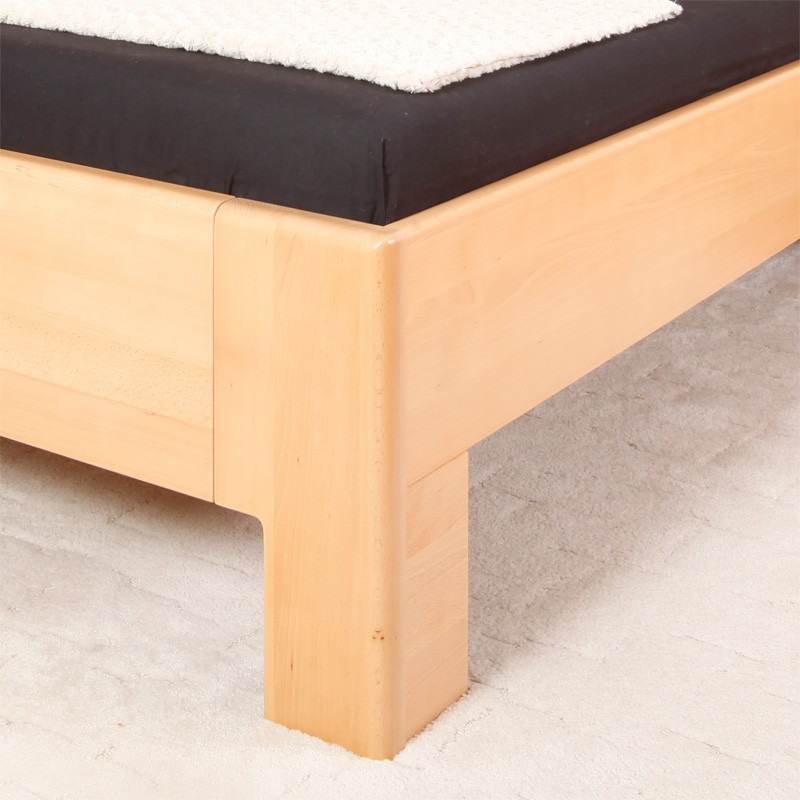 Zvýšená postel K-Design 1A masiv buk průběžný, lak č.10 přírodní