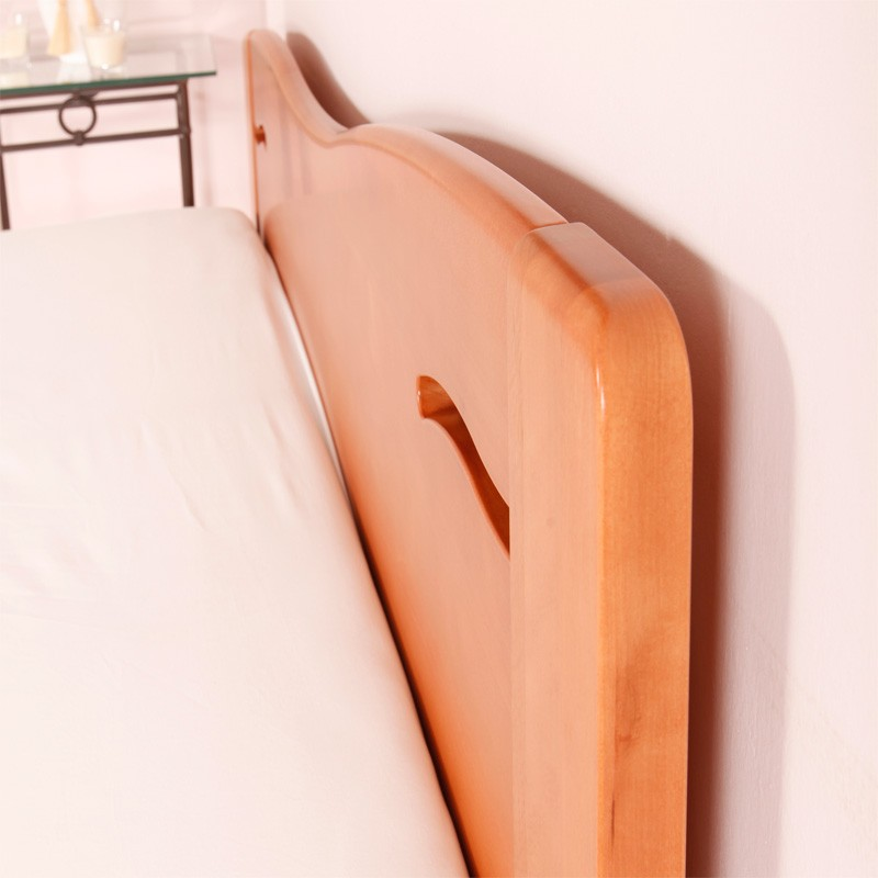Zvýšená postel K-Design 2B, masiv buk průběžný lak č. 20 třešeň