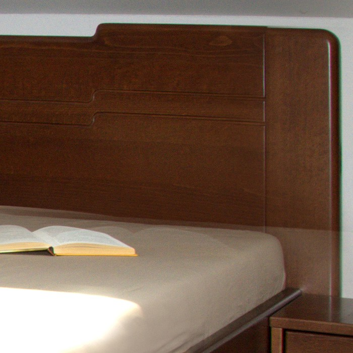 Jednolůžko K-DESIGN 3 UP - s úložným prostorem, masiv buk průběžný lak č. 60 ořech