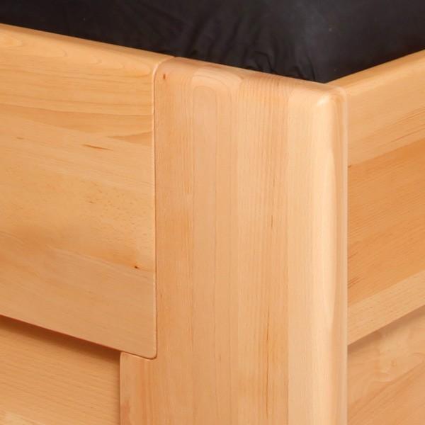 Jednolůžko Deluxe 2 s úložným prostorem - masiv buk průběžný olej č. 1 přírodní, Kolacia Design