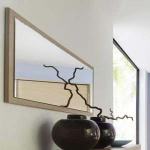 Zrcadlo závěsné - dýha světlý dub, Jitona