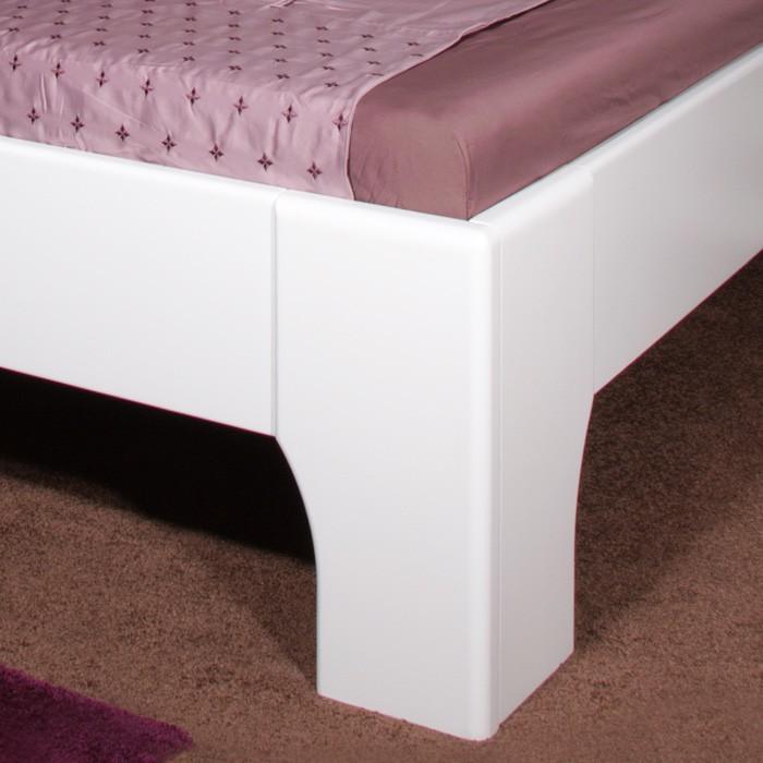 Zvýšená postel Olympia - masiv buk průběžný odstín sytě bílá, Kolacia Design