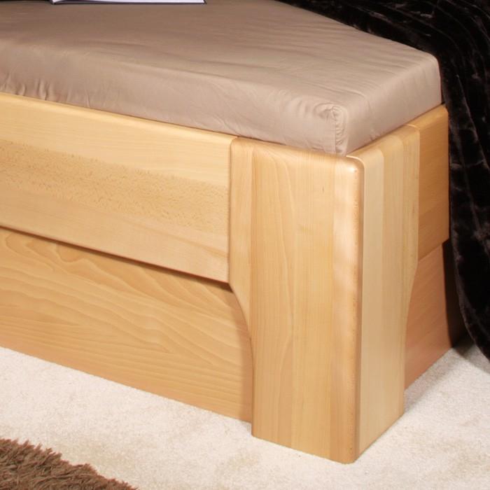 Zvýšená postel Olympia 2 s úložným prostorem a výklopnými rošty - masiv buk průběžný olej č. 1 přírodní, Kolacia Design