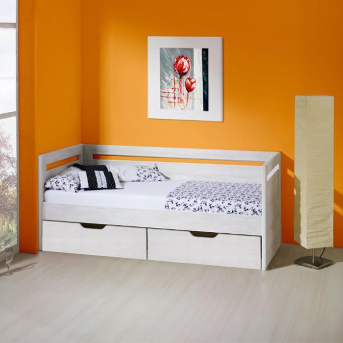 Rozkládací postel SÁRA TANDEM KLASIK lamino bělené dřevo, BMB
