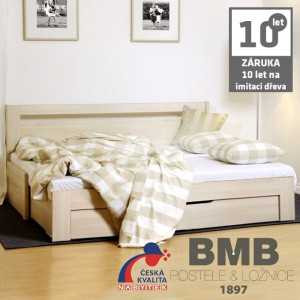 Rozkládací postel TINA TANDEM PLUS lamino - rozkládací lamelový dvojrošt, BMB