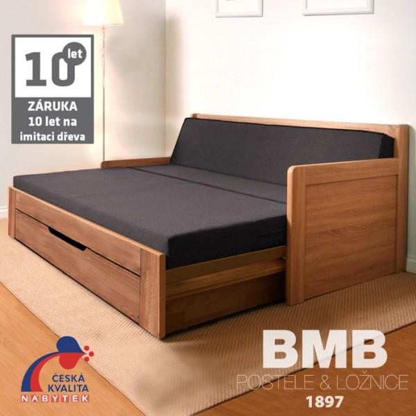 Rozkládací postel SOFA TANDEM PLUS rohová lamino, BMB