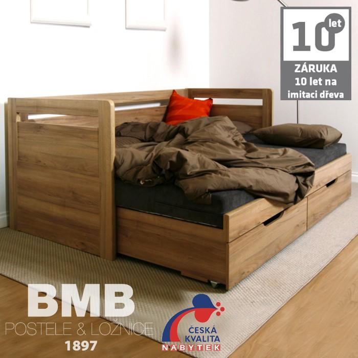 Rozkládací postel SÁRA TANDEM KLASIK lamino, BMB