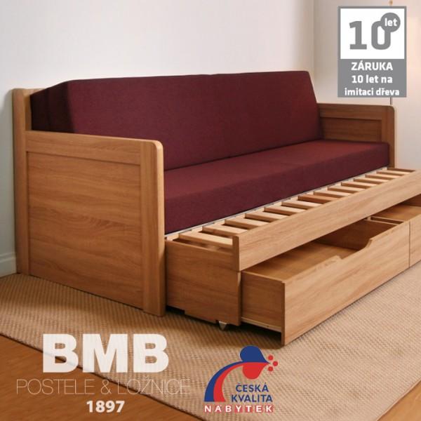 Rozkládací postel SOFA TANDEM KLASIK lamino, BMB