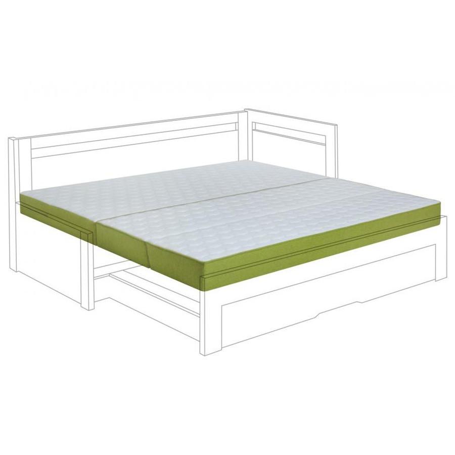 Matrace SÁVA k rozkládací posteli - ukázka s kombinovaným potahem New Jersey - Bombay