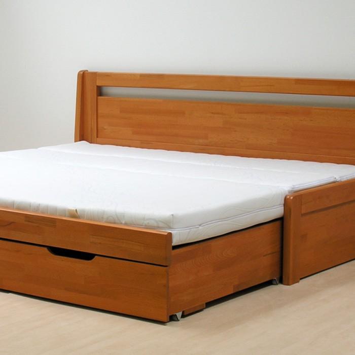 Matrace MALAGA k rozkládací posteli - ukázka užití setu matrace s rovnou opěrkou
