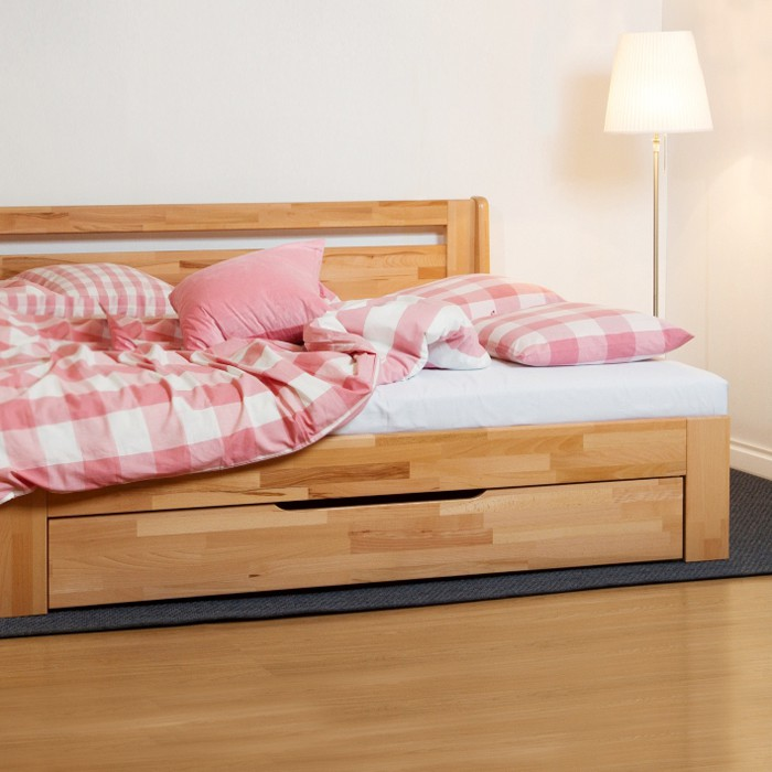 Rozkládací postel MARCY TANDEM PLUS rohová, masiv, BMB