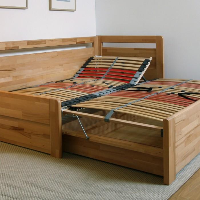 Rozkládací postel LARA TANDEM ORTHO masiv, BMB