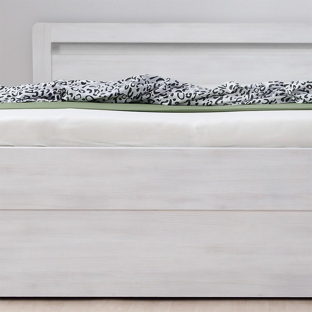 Postel MARIKA KLASIK lamino - prémiový dekor bělené dřevo, oblé rohy, BMB