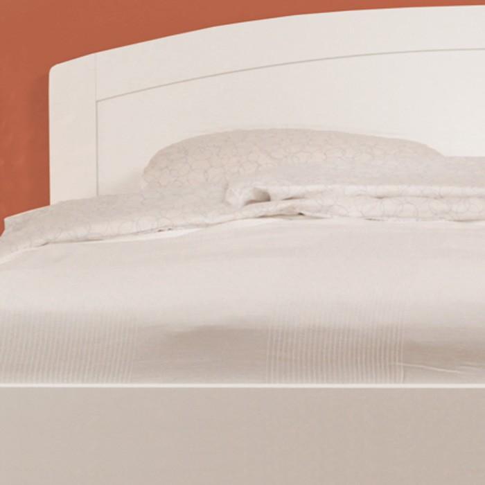 Postel MARIKA ART lamino bílé, oblé rohy, BMB