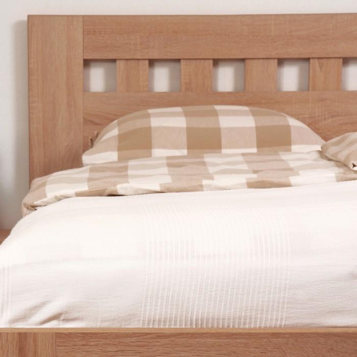 Zvýšená postel ELLA MOSAIC lamino - dekor dub bardolíno, rovné rohy, BMB