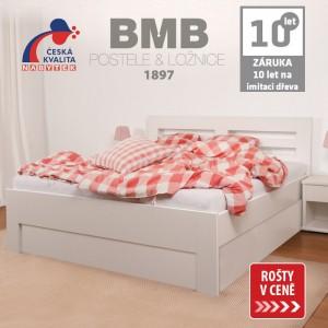 Zvýšená postel ELLA HARMONY výklop lamino, BMB