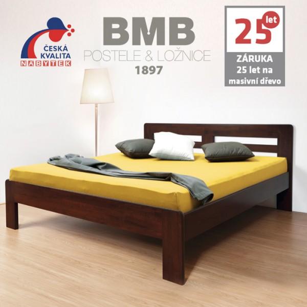Zvýšená postel ELLA HARMONY masiv buk, BMB