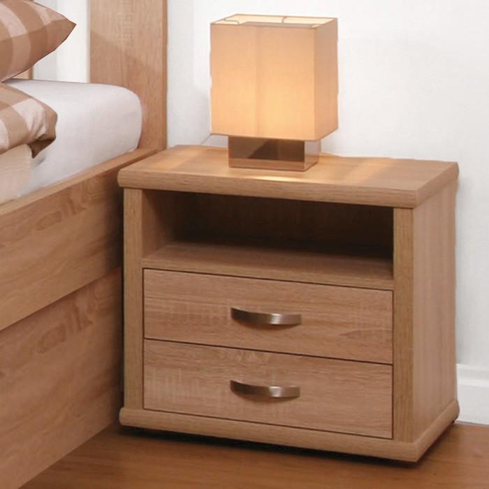 Noční stolek dvojzásuvkový lamino, BMB