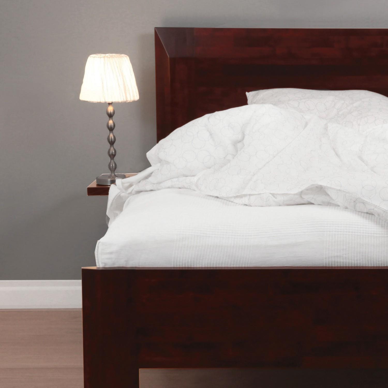 Noční stolek ZÁVĚSNÝ masiv buk tmavý ořech, BMB