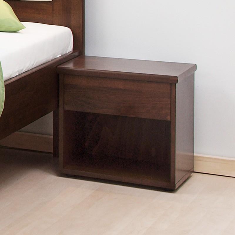 Noční stolek ŠIROKÝ masiv buk, BMB