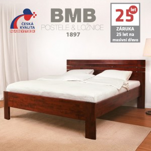 Zvýšená postel ELLA LUX masiv buk, BMB