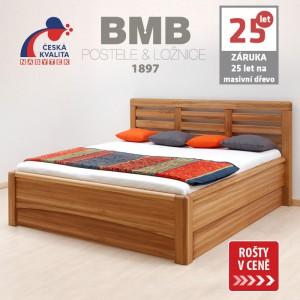 Zvýšená postel VIOLA VÝKLOP masiv dub, BMB