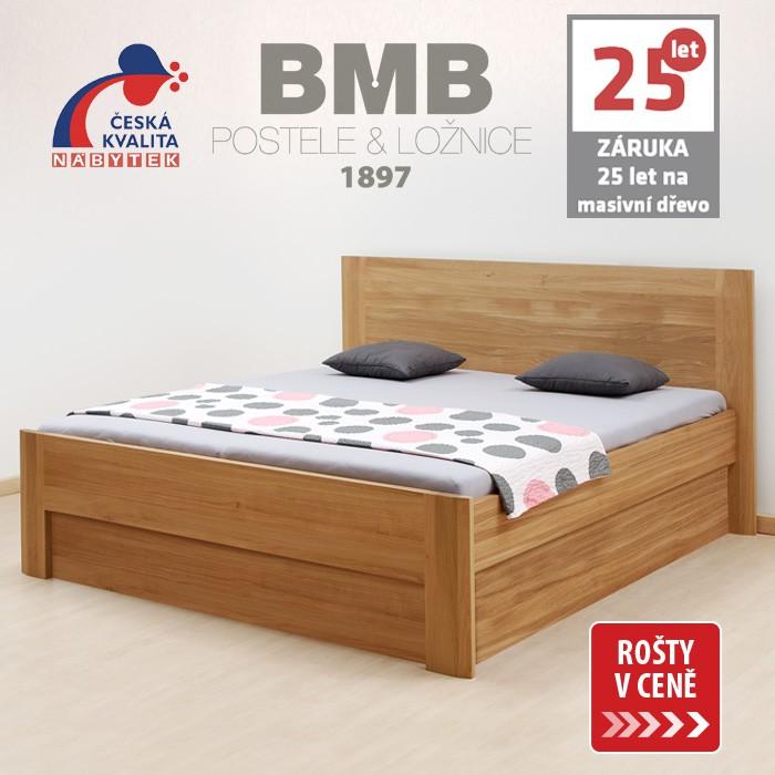 Zvýšená postel ELLA FAMILY VÝKLOP masiv dub, BMB