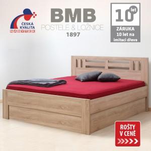 Zvýšená postel ELLA MOON VÝKLOP lamino, BMB