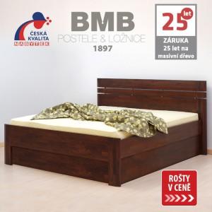 Zvýšená postel ELLA LUX VÝKLOP masiv buk, BMB