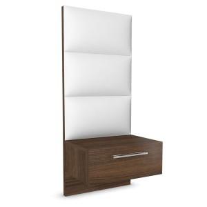 Noční stolek s zásuvkou a s panelem vysoký - dýha ořech, Jitona