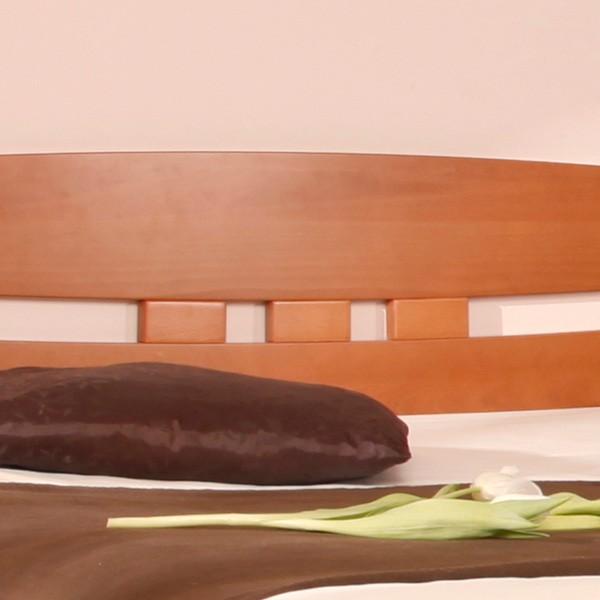 Postel EVITA 1 - zvýšená postel, průběžný buk masiv, LAK odstín č. 20 třešeň