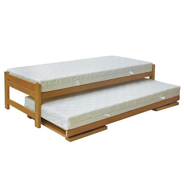 Rozkládací postel Duelo - ukázka rozkládání (matrace nejsou součástí dodávky)