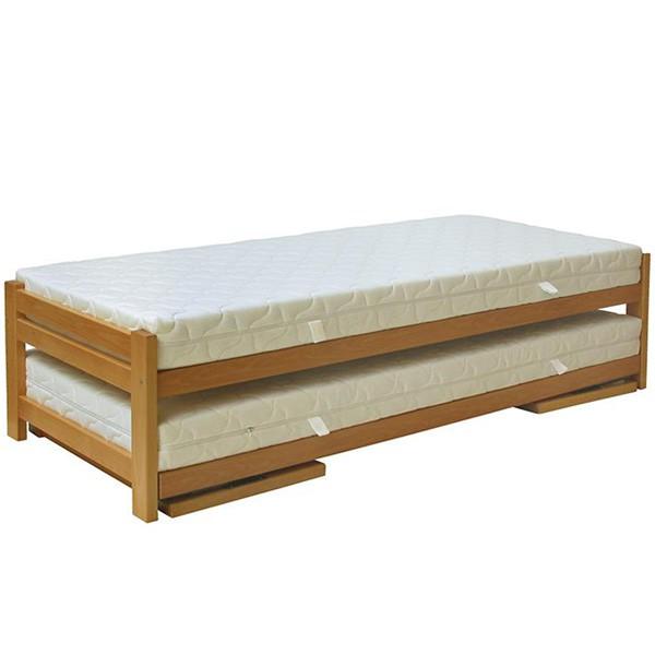 Rozkládací postel Duelo ve složeném stavu - jednolůžko (matrace nejsou součástí dodávky)