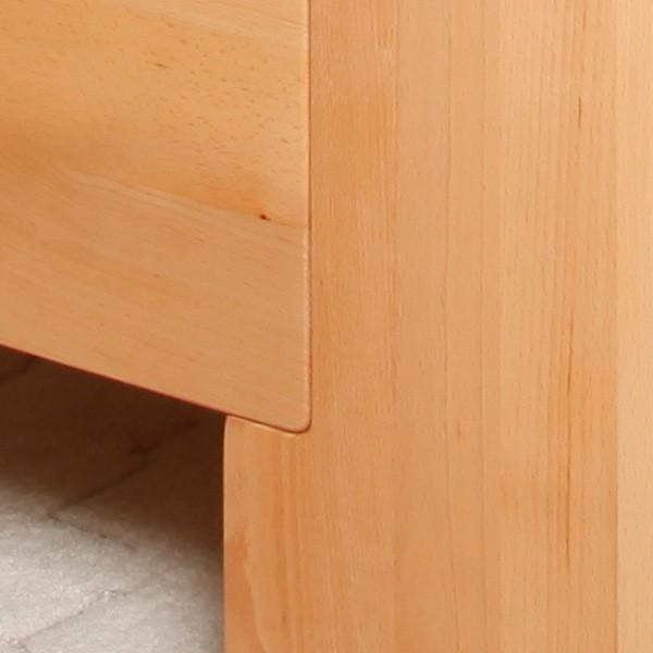 Zvýšená postel DELUXE 2 v provedení masiv buk průběžný olej č.1 přírodní - detail přední nohy
