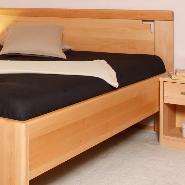 Zvýšená postel Deluxe 2 - masiv buk průběžný olej č. 1 přírodní