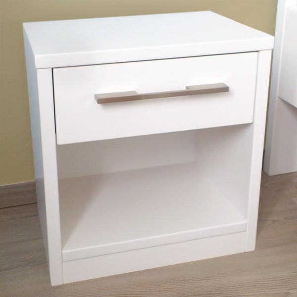 Noční stolek 1-zásuvkový, lak č.50 - bílý, Kolacia