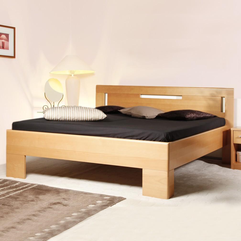 Zvýšená postel Varezza 4, masiv buk průběžný olej č. 1 přírodní, výrobce Kolacia Design