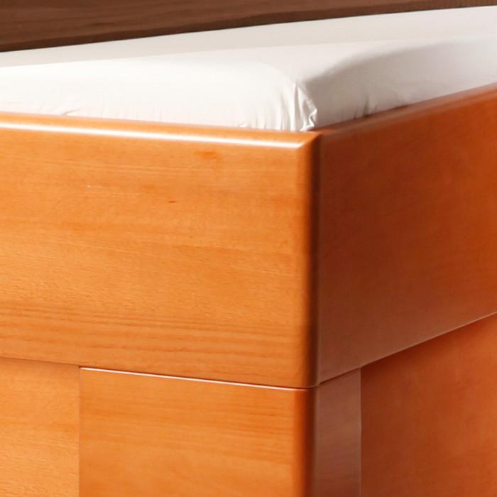 Jednolůžko Varezza 5 s úložným prostorem - masiv buk průběžný lak č. 20 třešeň