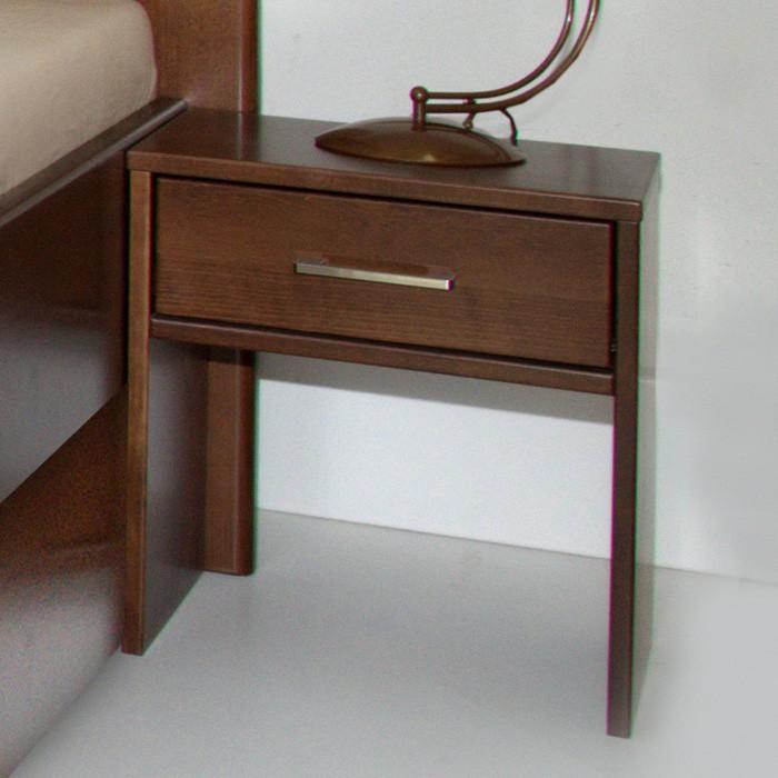 Noční stolek UNI zásuvkový - masiv buk průběžný lak č. 60 ořech, Kolacia