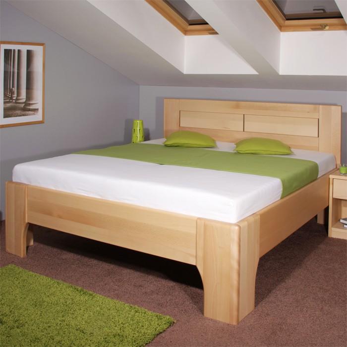 Zvýšená postele Olympia 3 - masiv buk průběžný olej č. 1 přírodní, Kolacia Design