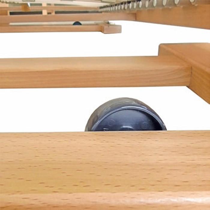 DUELO rozkládací postel - kolečka pro snadné rozložení na podlaze i na koberci