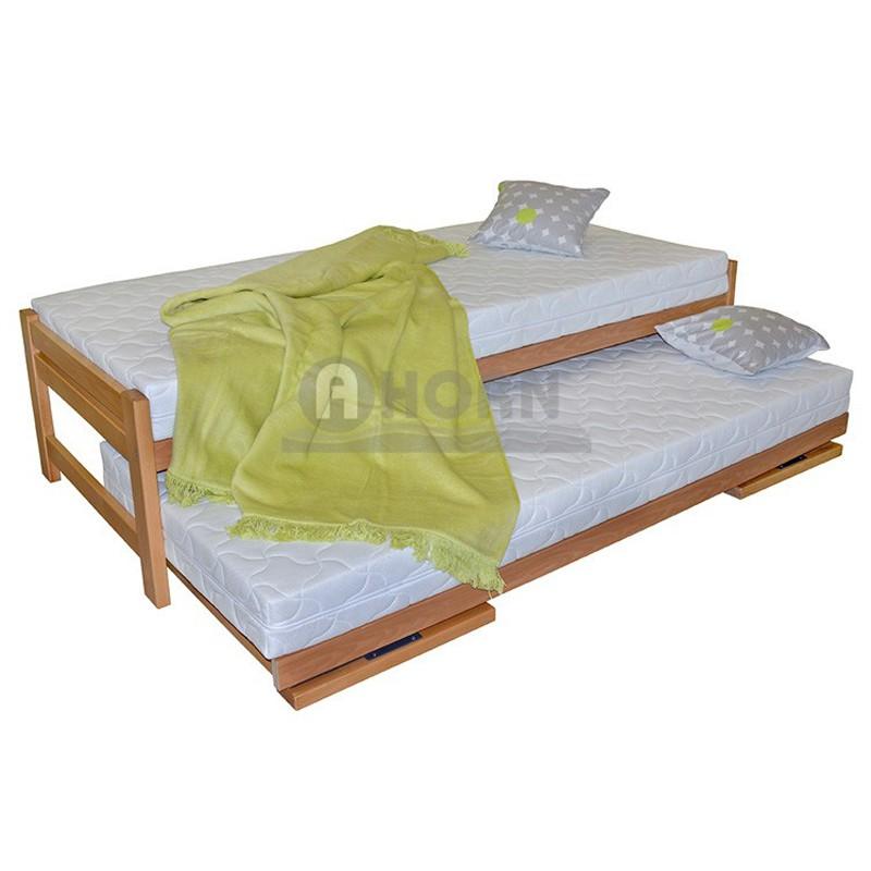 DUELO rozkládací postel, Ahorn