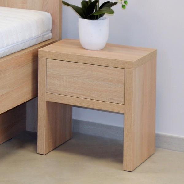 Noční stolek NS1 zásuvka, Ahorn
