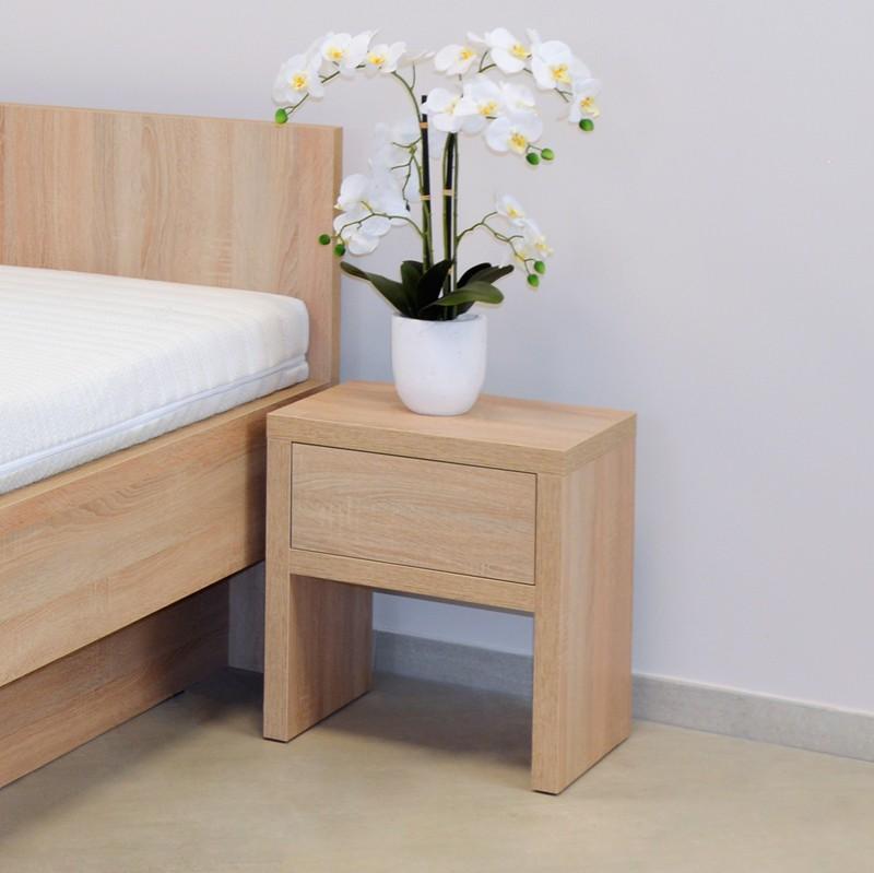 Noční stolek NS1 zásuvka - lamino dekor dub světlý, Ahorn
