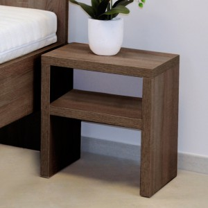 Noční stolek NS3 nika - lamino dekor dub hnědý, Ahorn